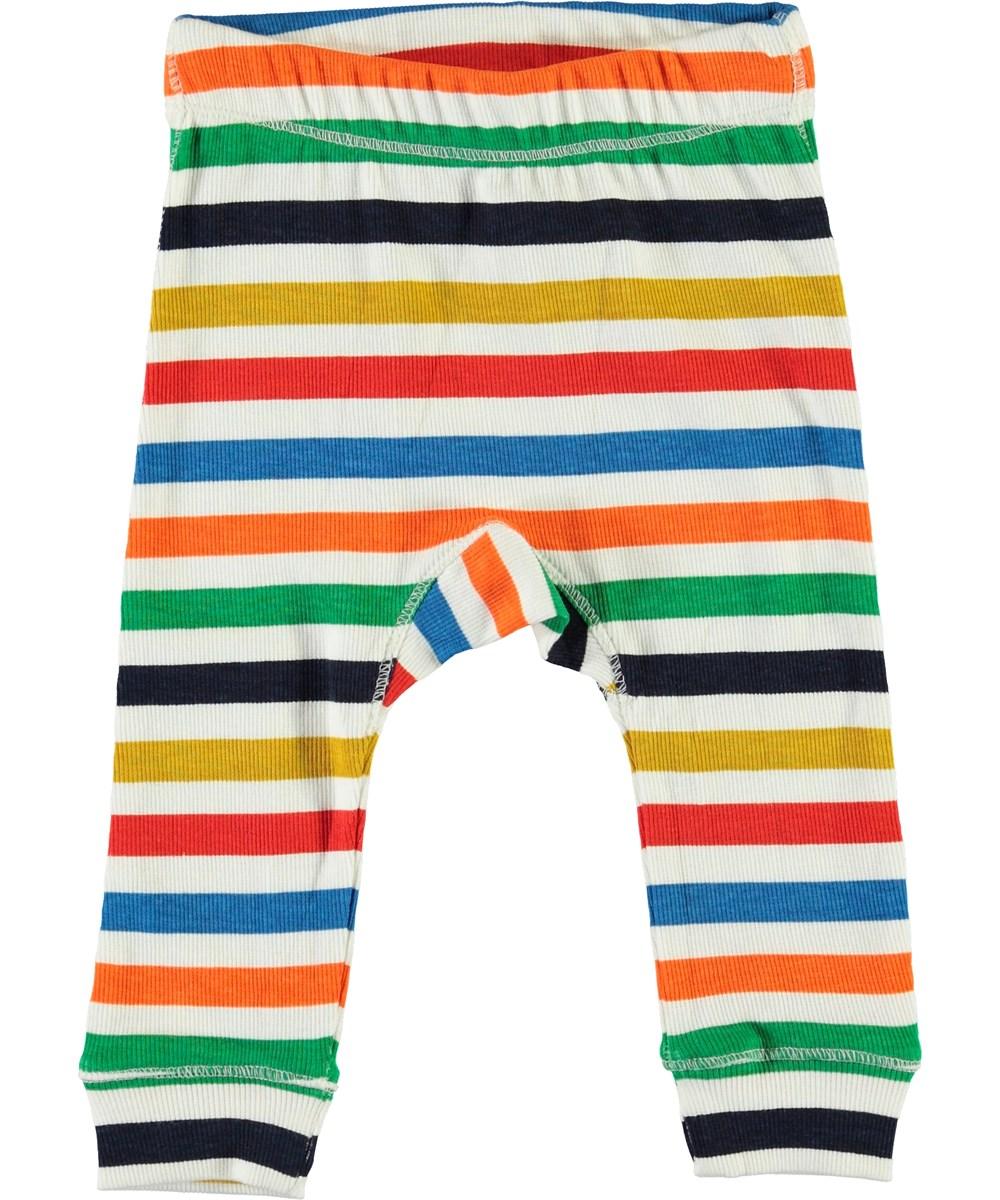 Seb - Multi Colour - Multifarvede baby bukser i striber