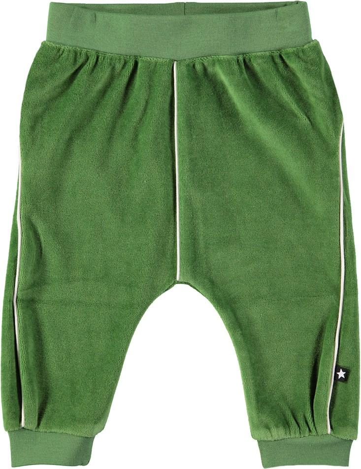 Shura - Field Green - Grønne baby bukser i velour