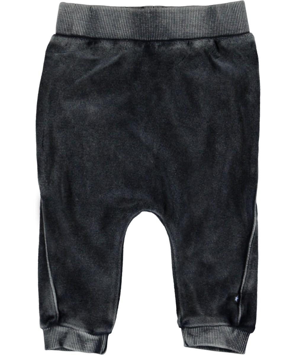 Sido - Carbon - Grå velour baby bukser.