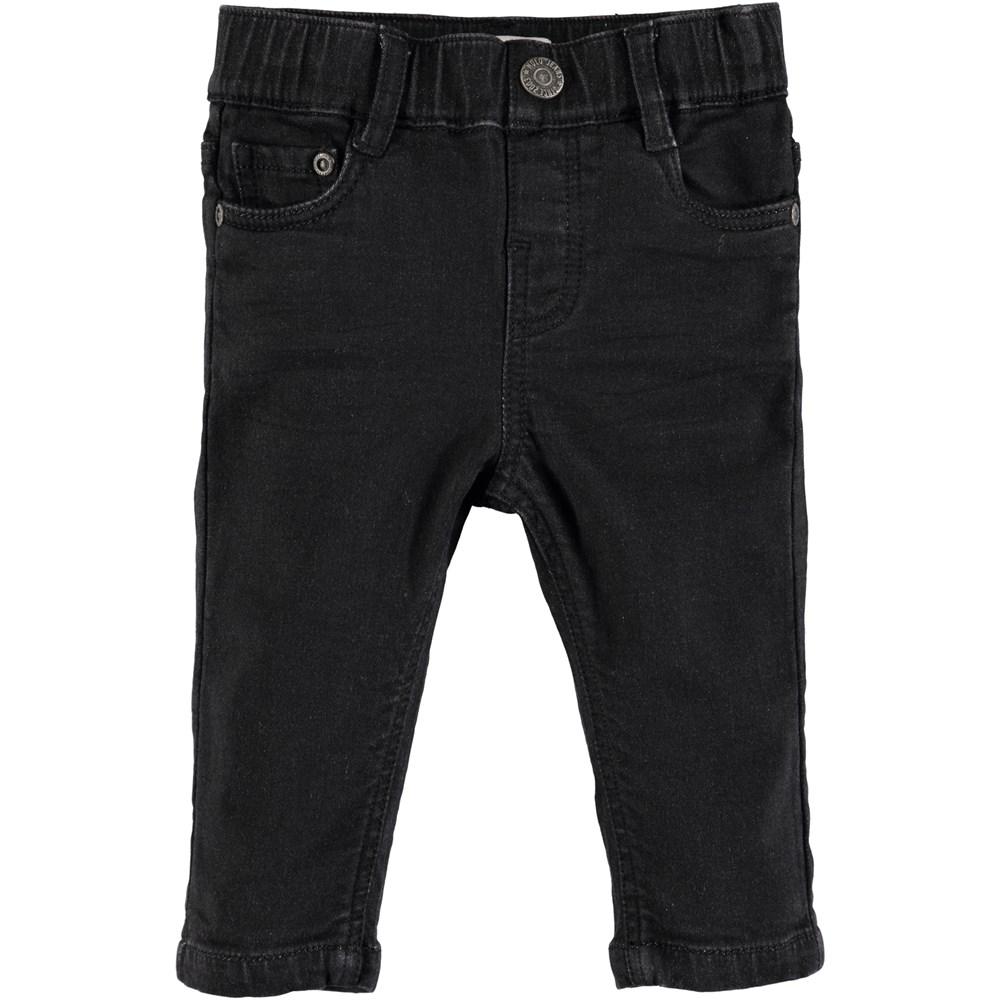 Sonny - Black Blast - Sorte baby denim jeans med stretch
