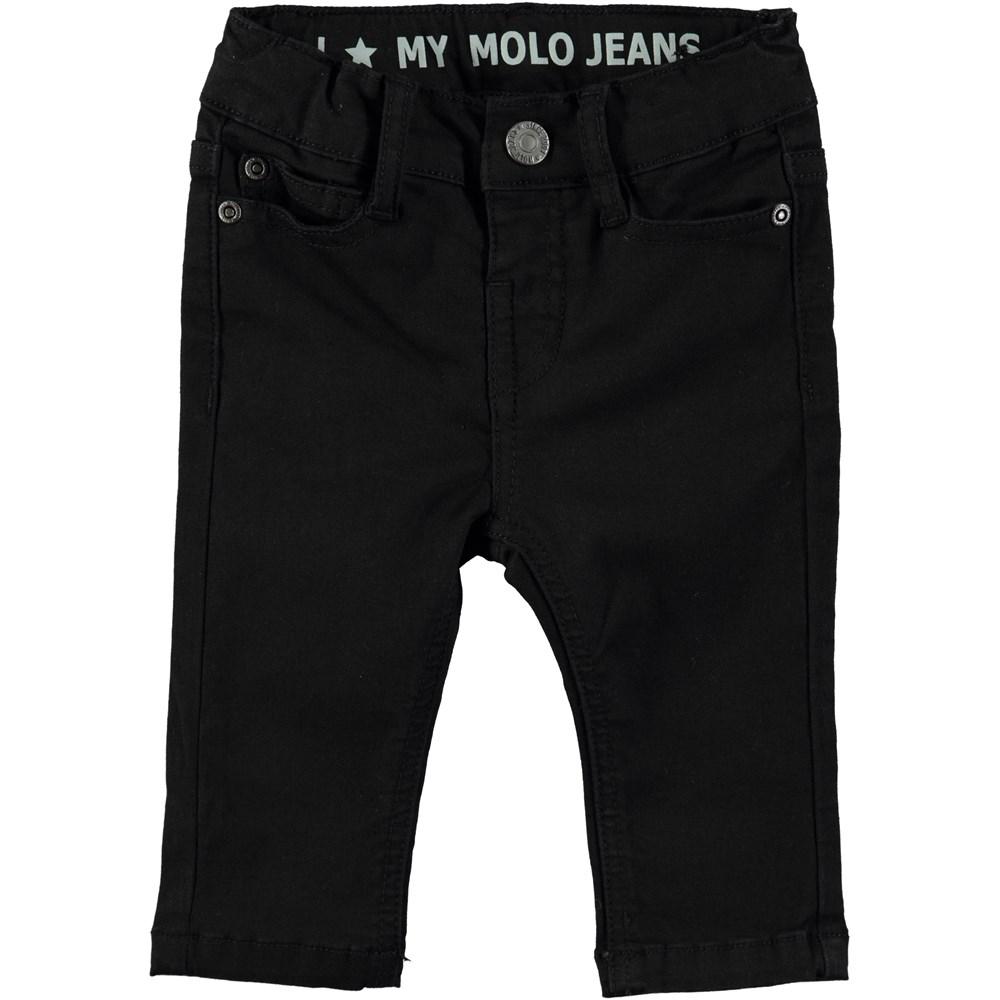 Sonny - Washed Black - Seje jeans med elastisk talje