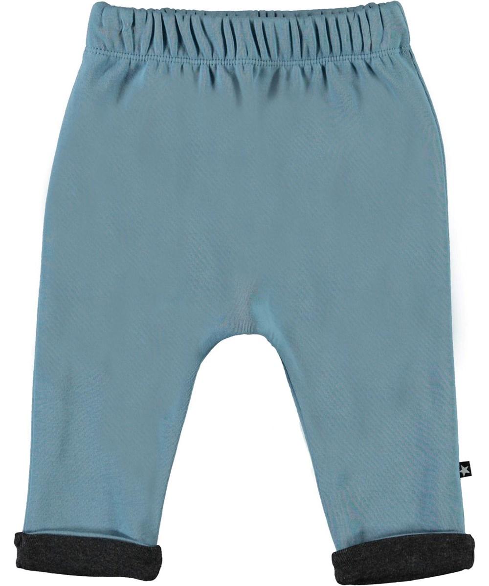 Soyo - Aero - Økologiske lyseblå baby bukser