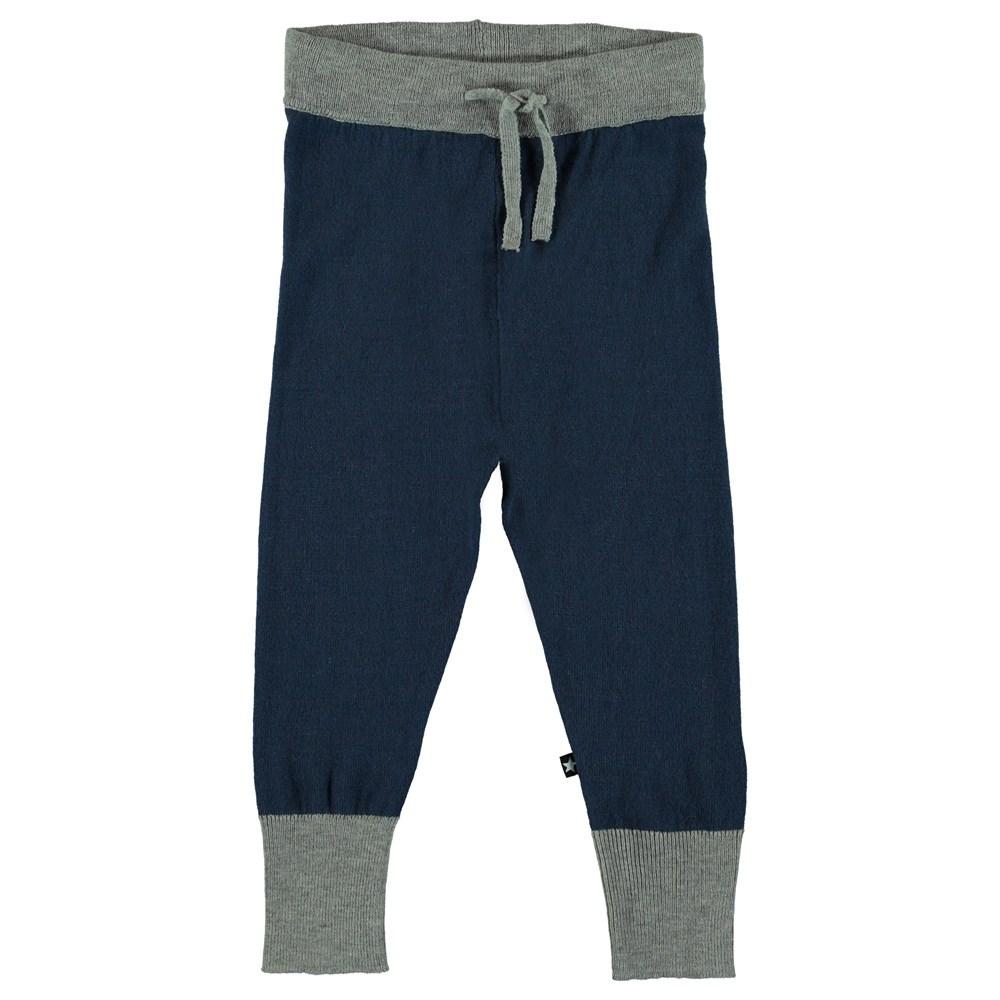 Spot - Infinity - Tofarvet strikkede baby bukser.