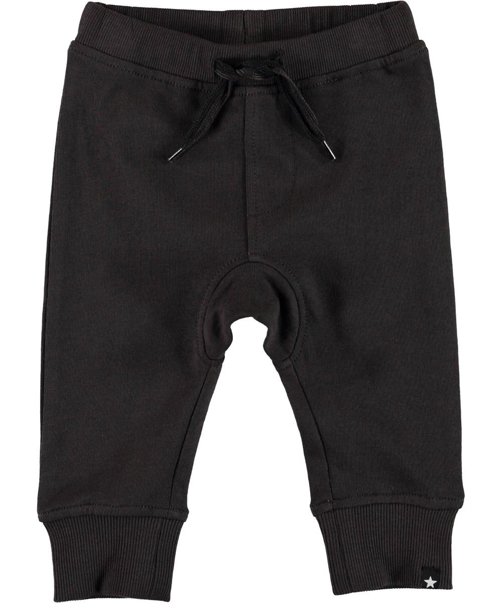 Stan - Brown Darkness - Økologiske brune baby sweatpants