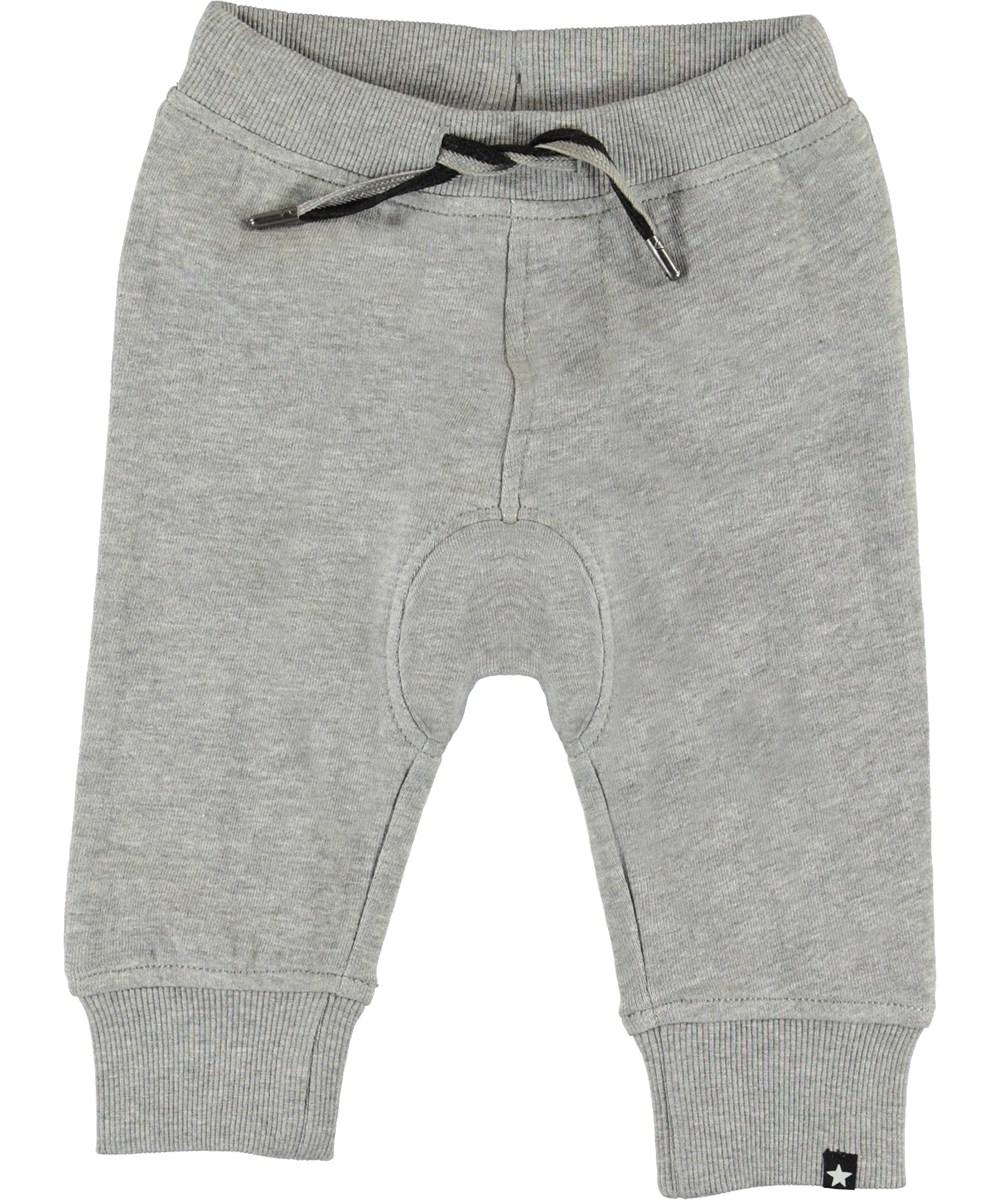 Stan - Grey Melange - Grå baby sweatpants