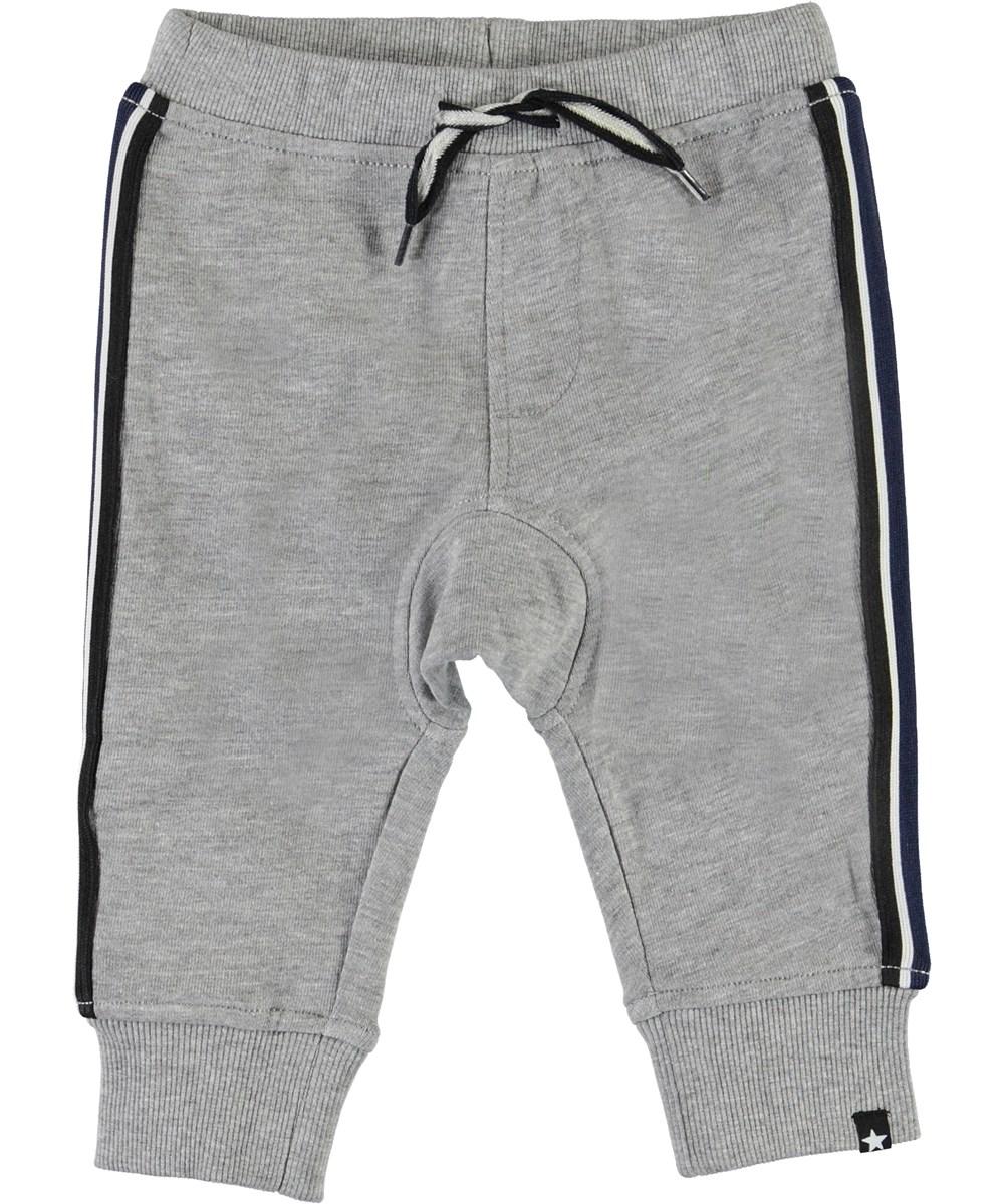 Stan - Grey Melange - Grå baby sweatpants