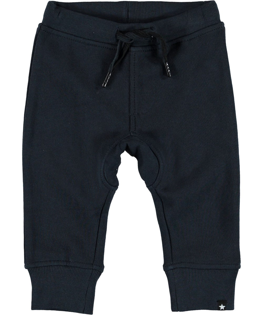 Stan - Carbon - Baby sweatpants blå bukser.