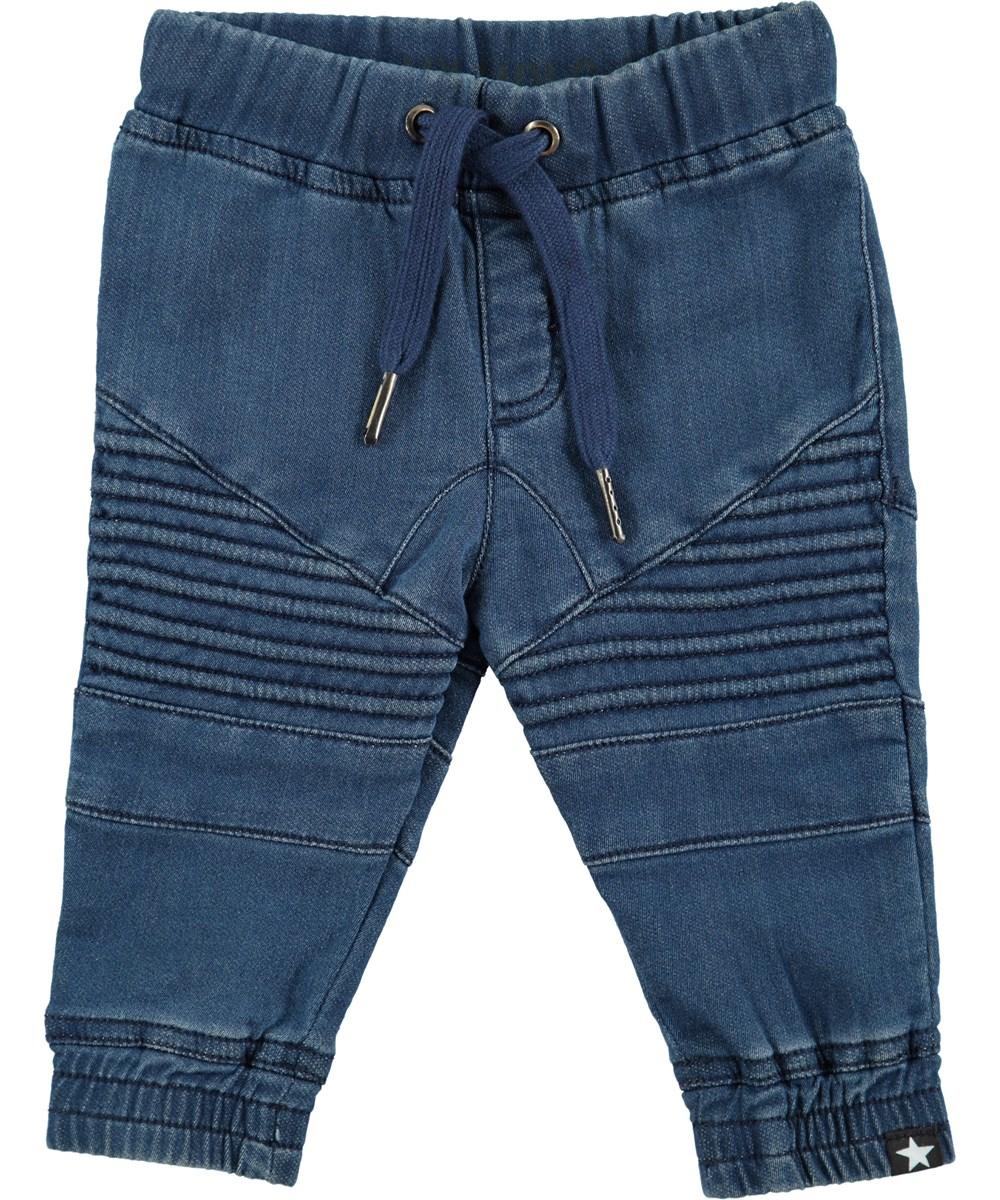 Stanley - Blue Denim - Jeans med ribdetaljer