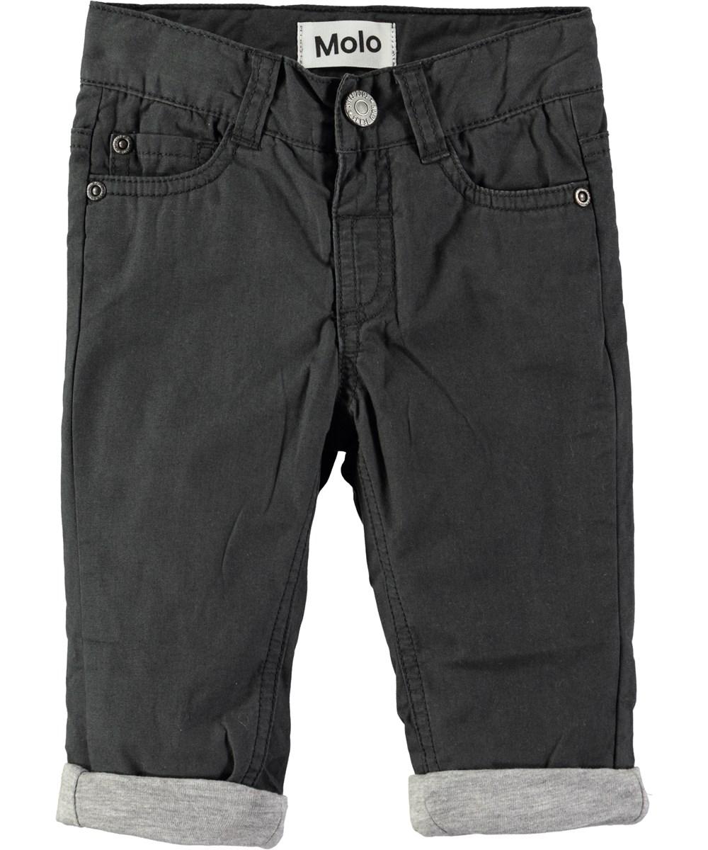 Sven - Pirate Black - Sorte baby bukser med opsmøg