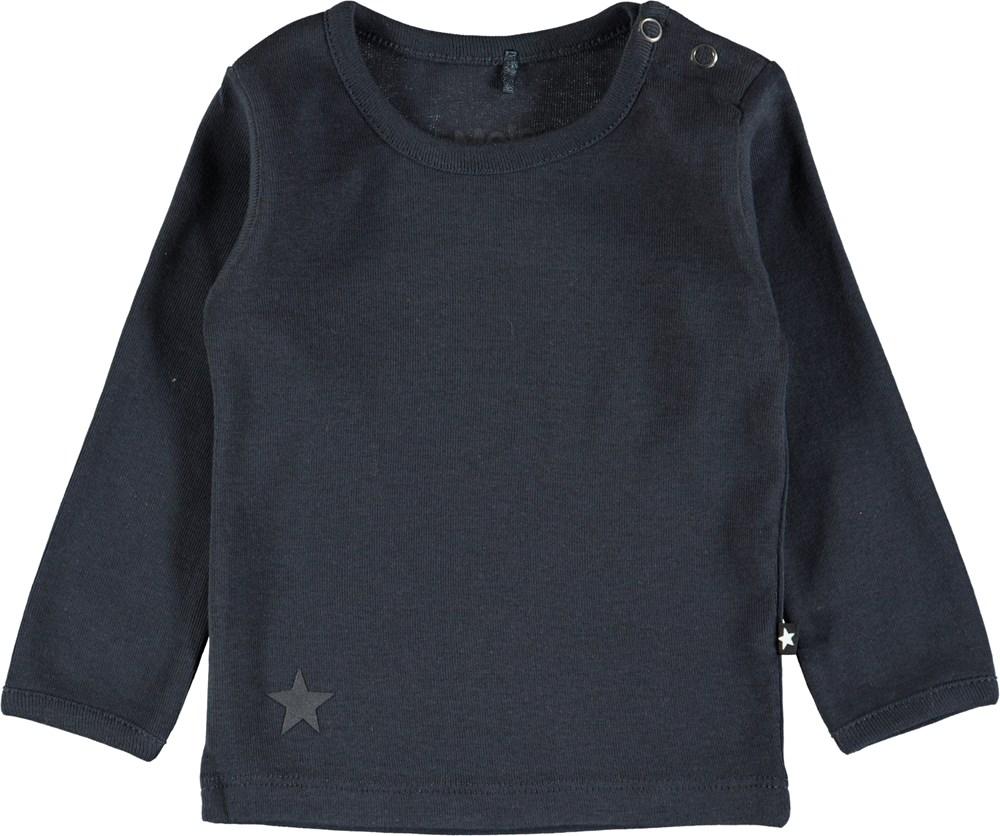 Elo - Dark Navy - Mørkeblå basis bluse til baby