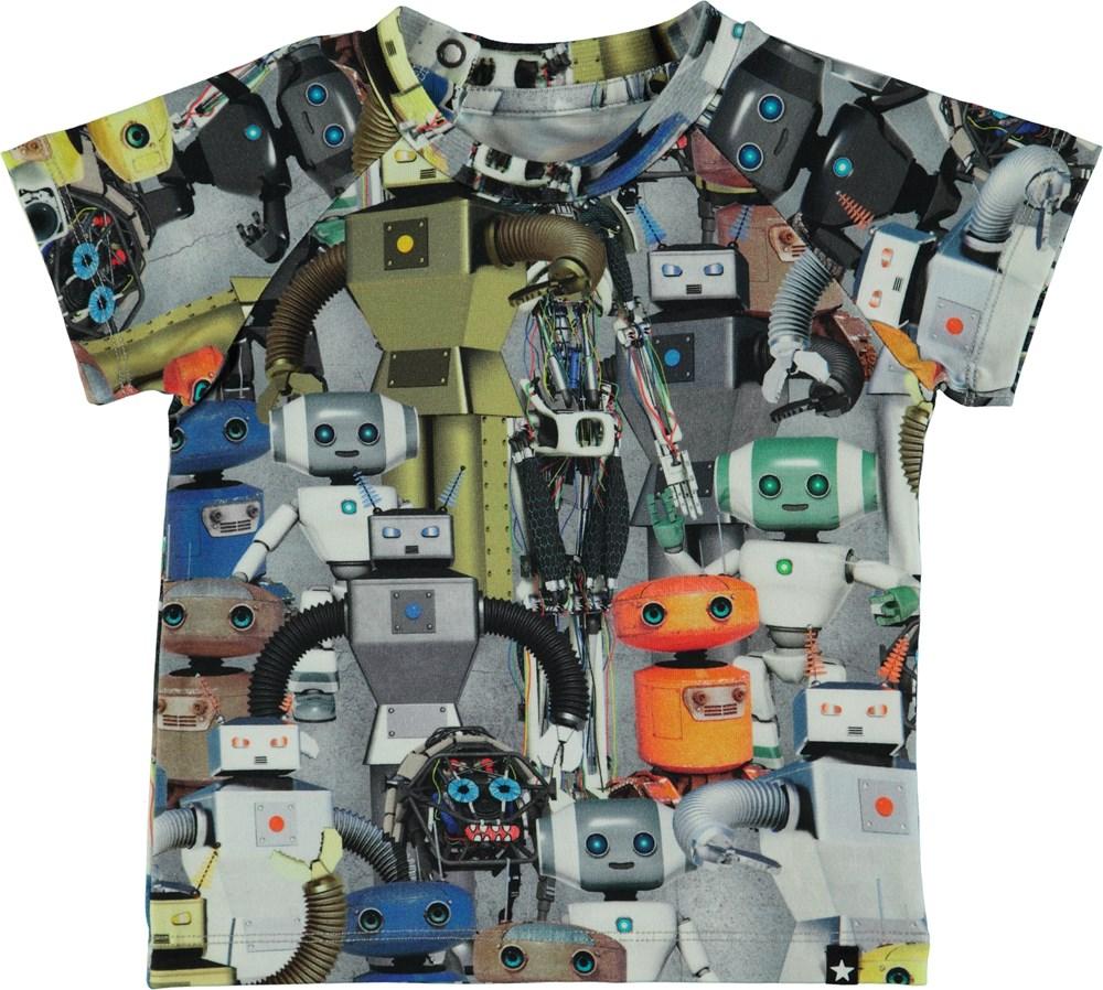 Emmett - Robots - Baby t-shirt med robotter.