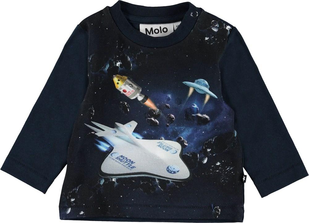 Enovan - Space Scenario - Baby bluse med rumskibe.