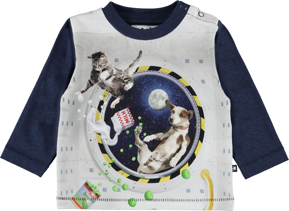 Enovan - Space Supper - Baby bluse med dyr.