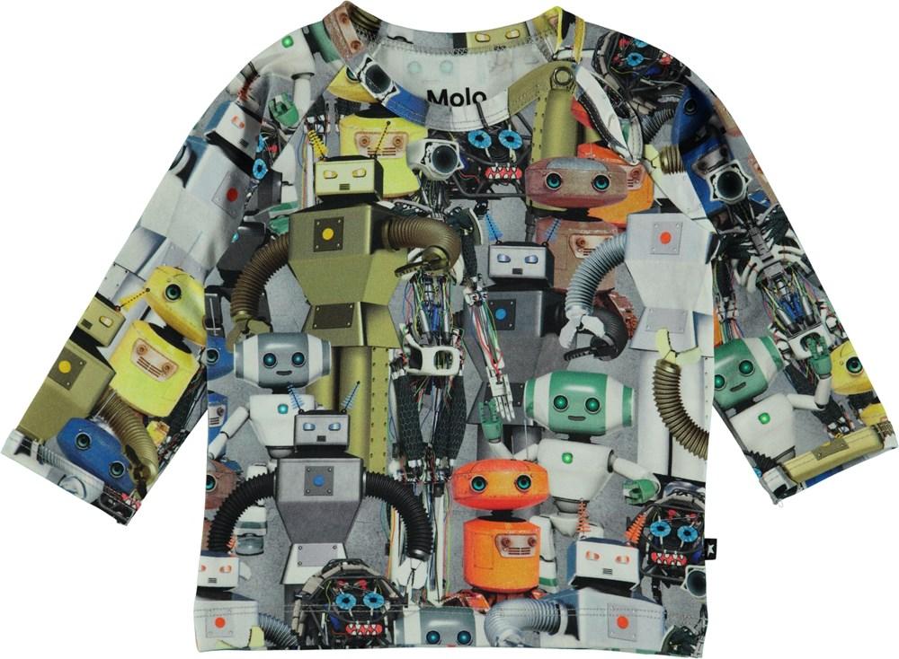 Ewald - Robots - Langærmet baby t-shirt med robotter.