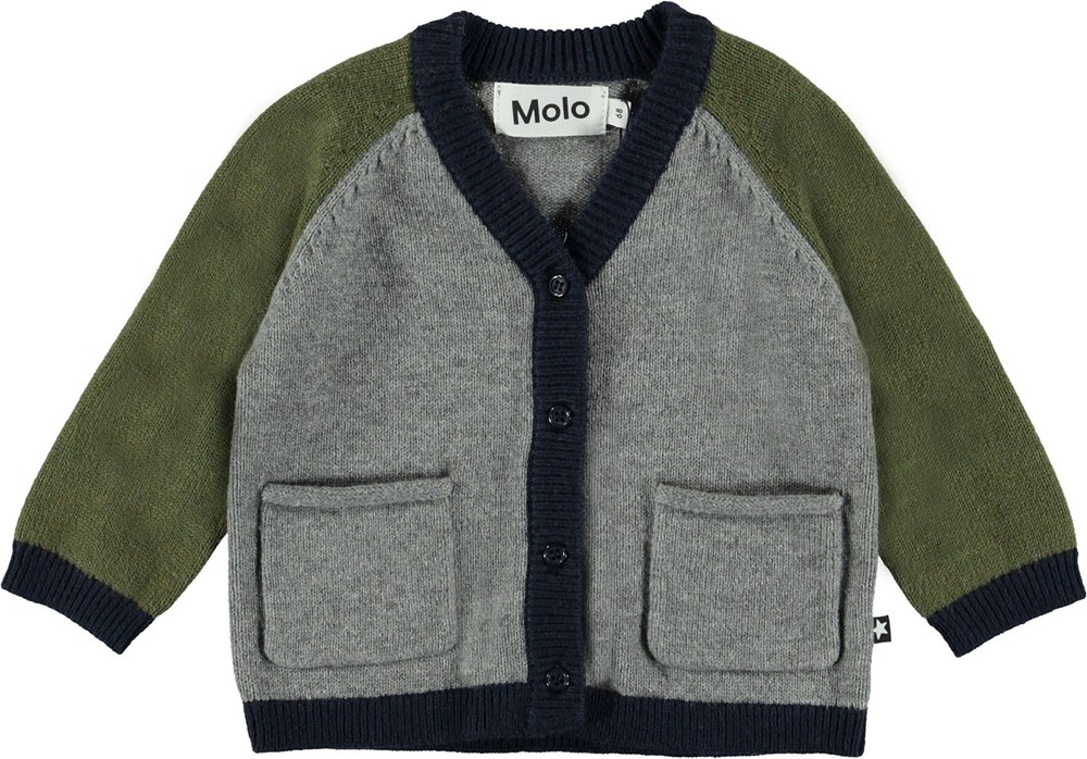 Benjamin - Colour Block - Baby strik cardigan