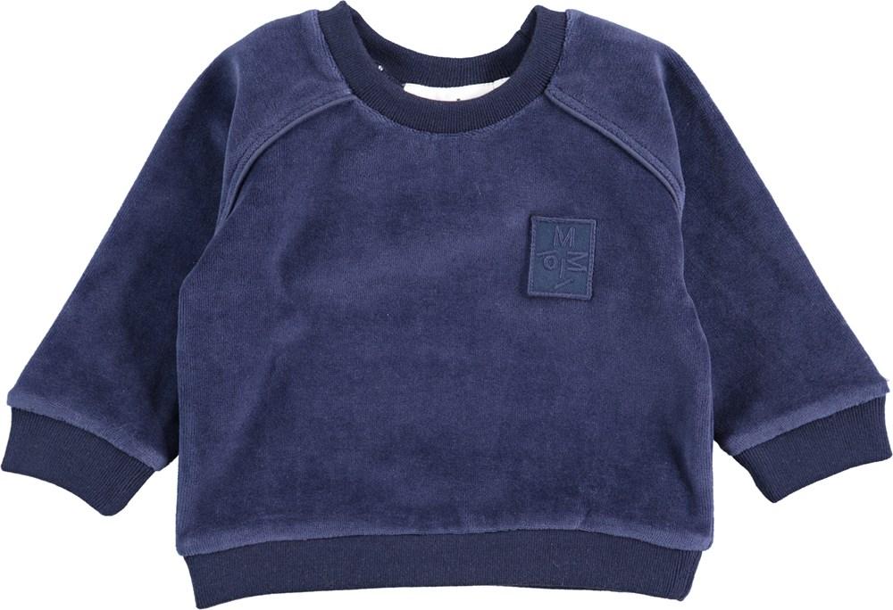 Dag - Infinity - Blå baby sweatshirt i velour