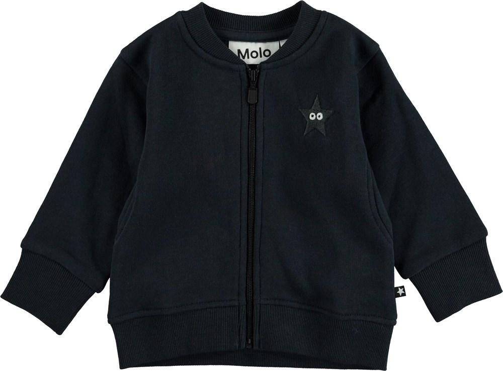 Derek - Carbon - Mørkeblå baby sweatshirt.