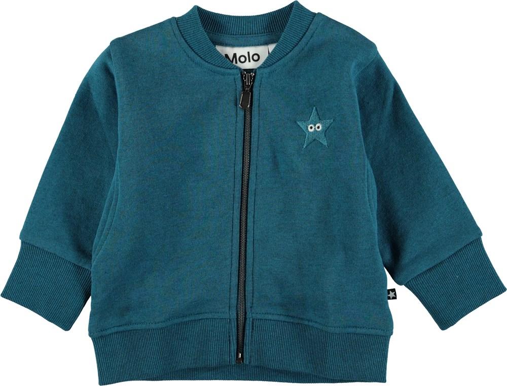 Derek - Frozen Deep - Blå baby sweatshirt.