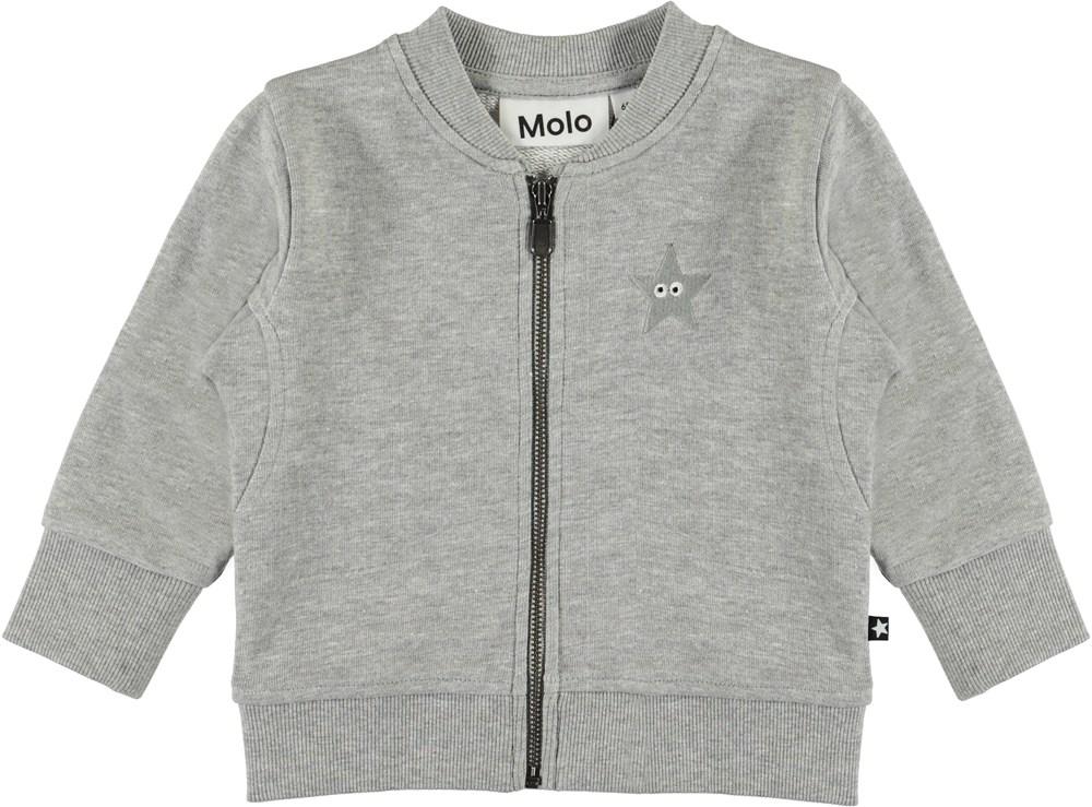 Derek - Grey Melange - Grå baby sweatshirt