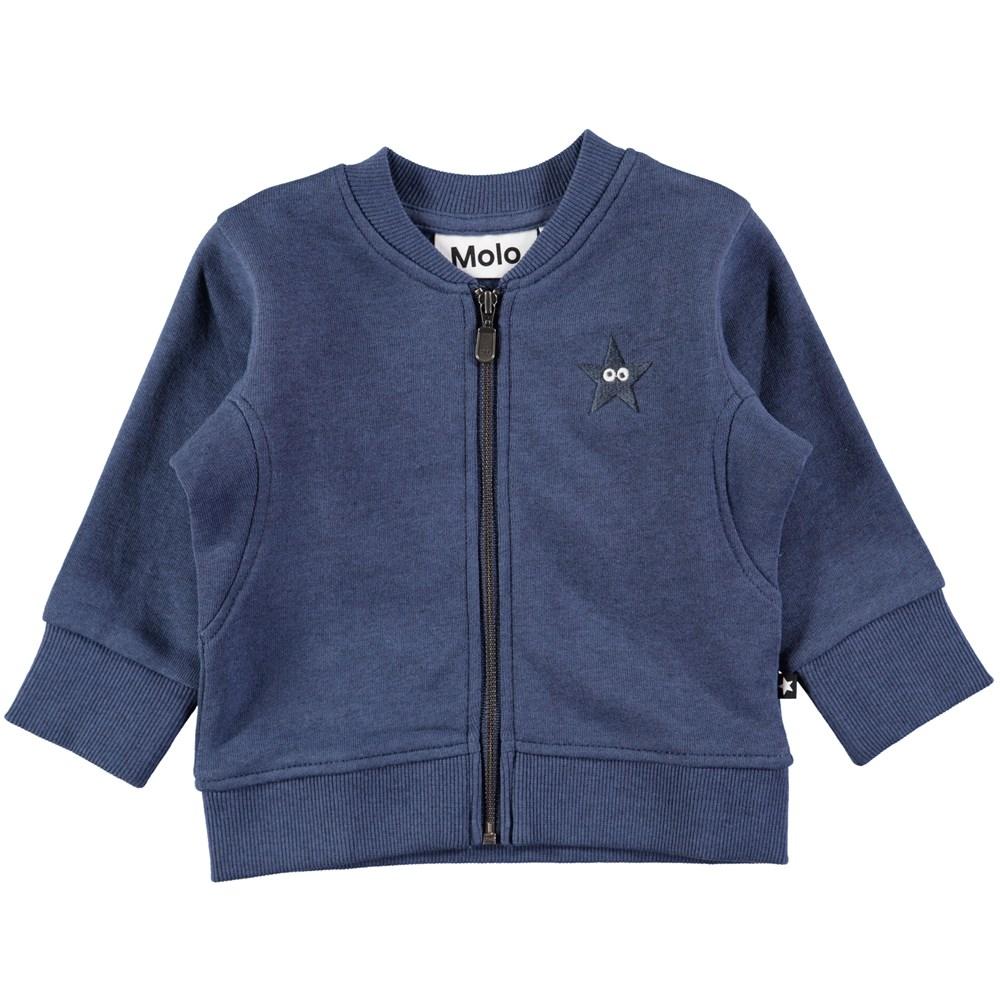 Derek - Infinity - Sort baby sweatshirt med lynlås