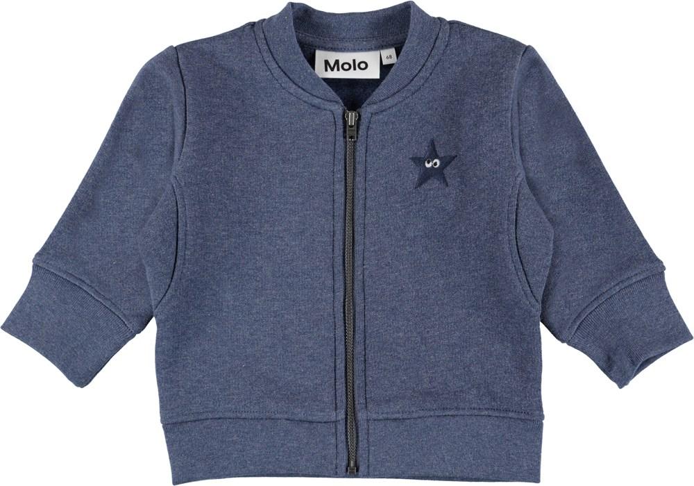 Derek - Infinity Melange - Blå baby sweatshirt.