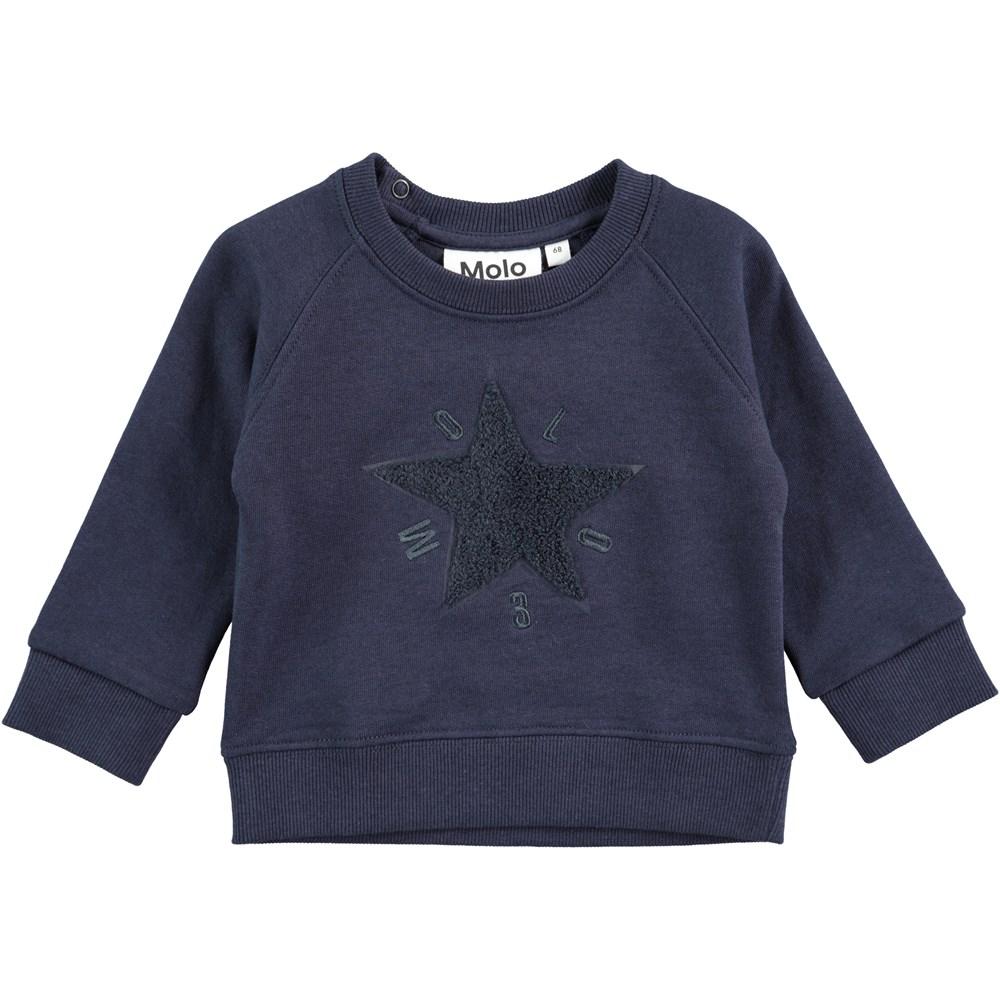 Dines - Navy Blazer - Sweatshirt med stjerne