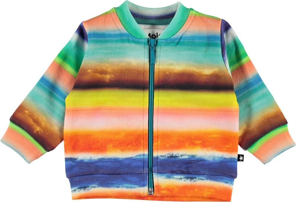 Duff - Sunset Stripe - Baby sweatshirt med farverige striber