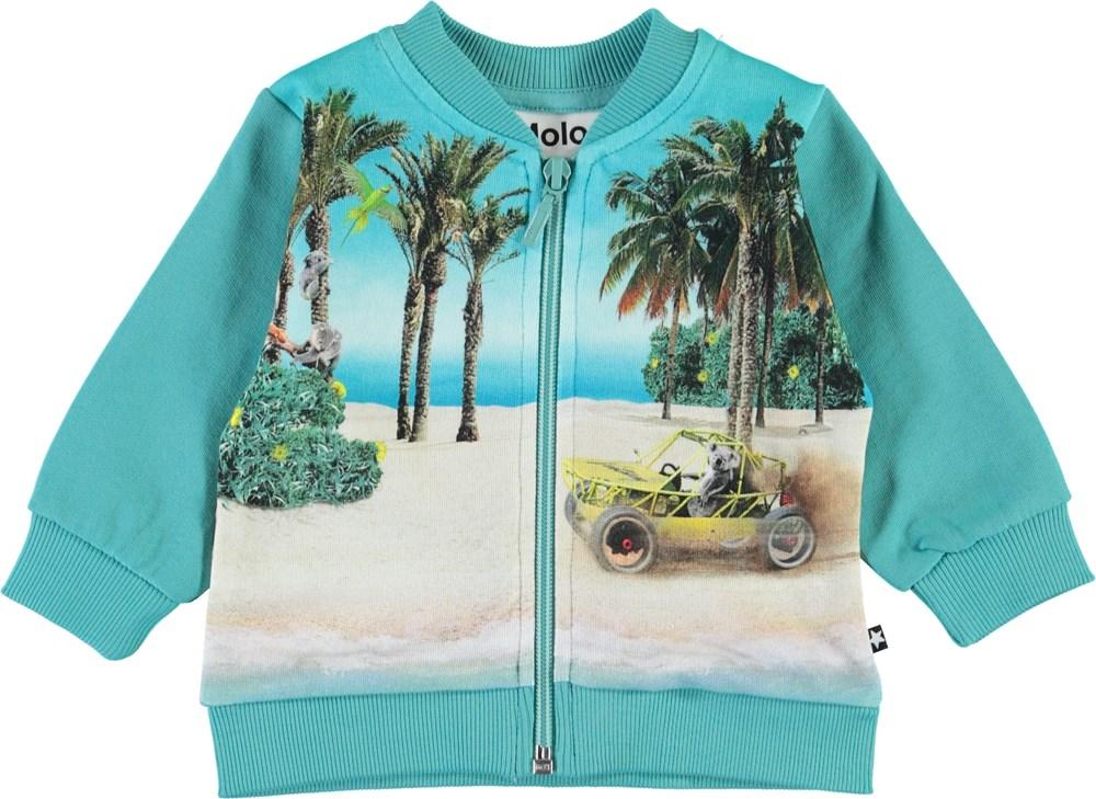Duff - Venturing Koala - Baby sweatshirt i turkis med stand print