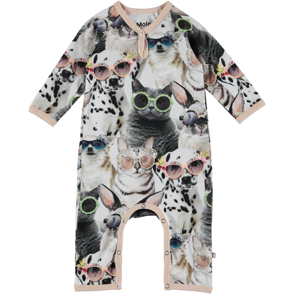 Fiona - Sunny Funny - Baby heldräkt med tryck av djur.