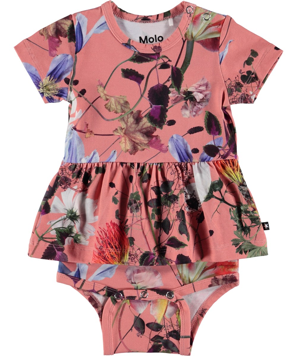 Frannie - Flowers Of The World - Blommig baby body.