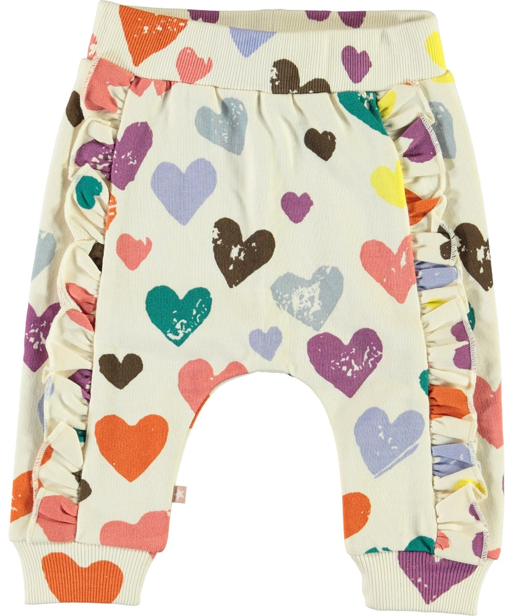 Safira - Love Forever Isoli - Baby sweatpants med hjärtan