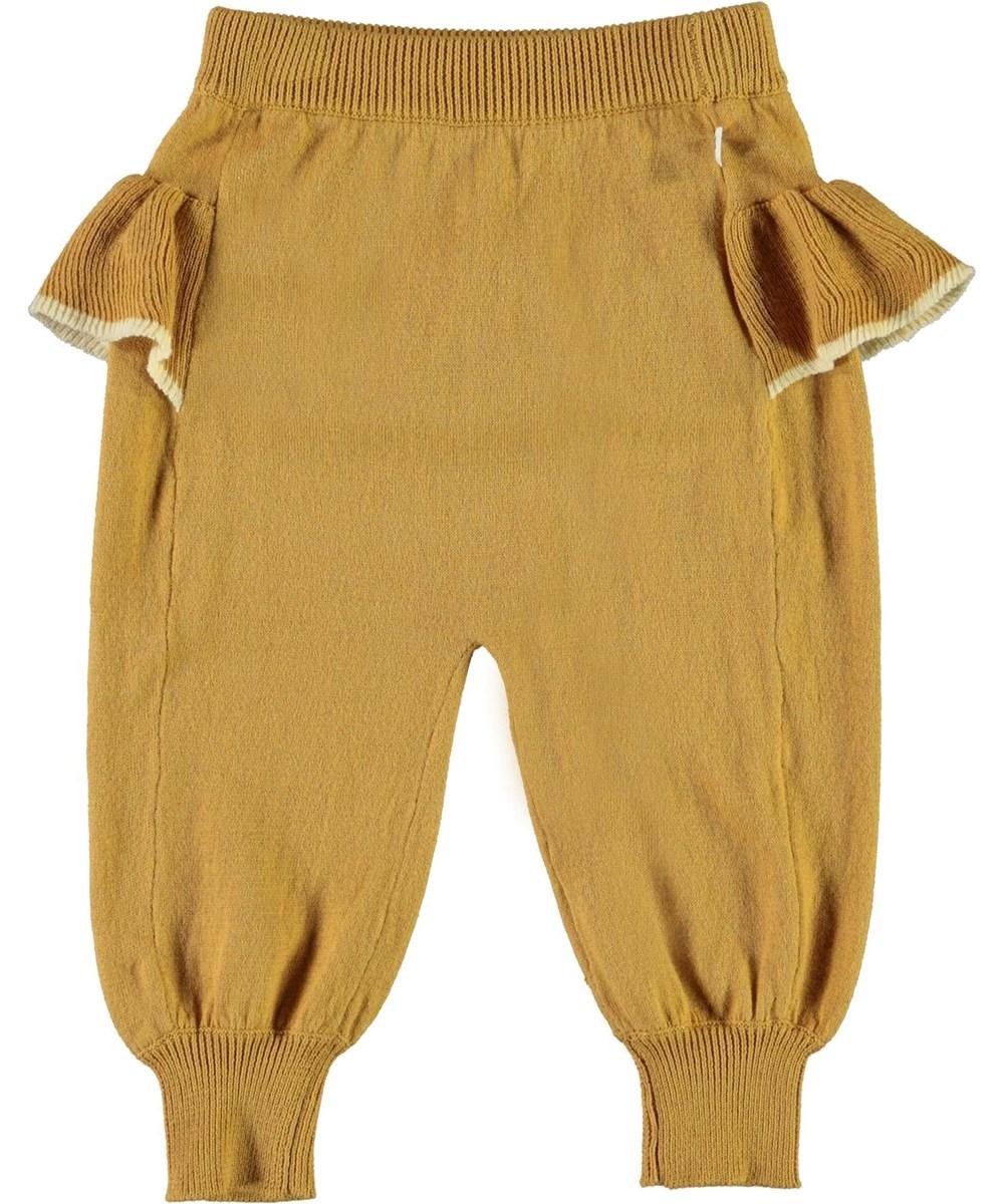 Sanne - Honey - Gyllene stickade babybyxor