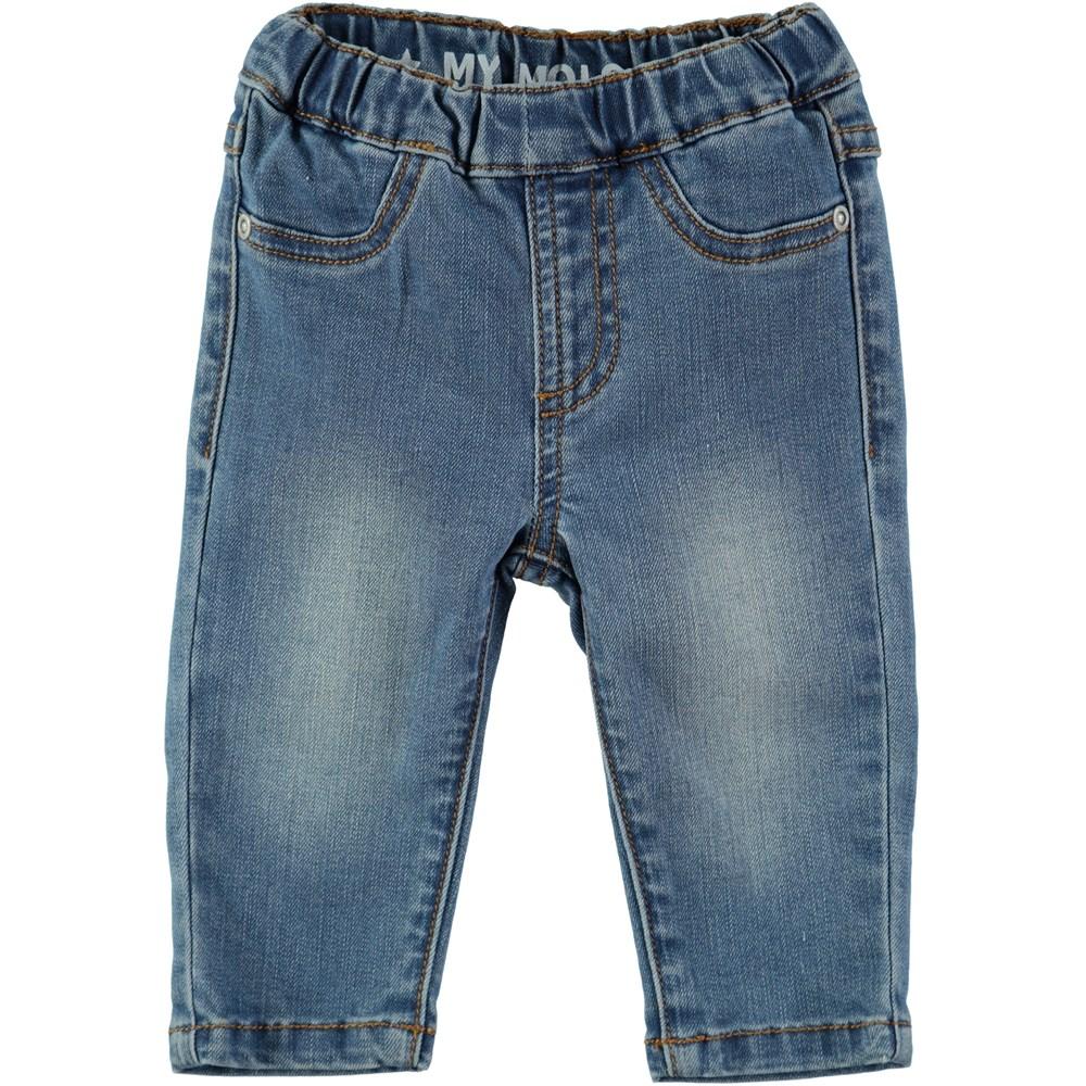 Shilo - Blast Blue - Jeans med resår i midjan