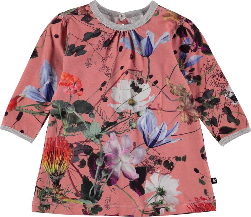 Caroline - Flowers Of The World - Blommig baby klänning.