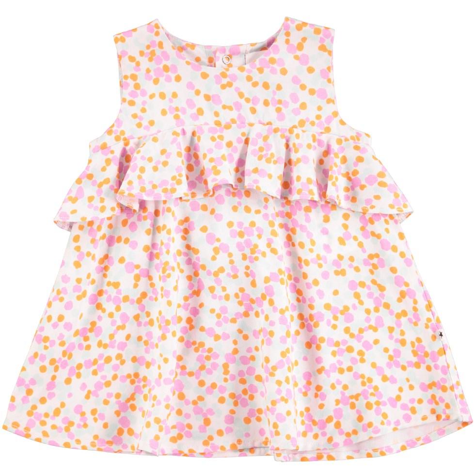 Catja - Random Dots - Bedårande prickig baby klänning med volangkant