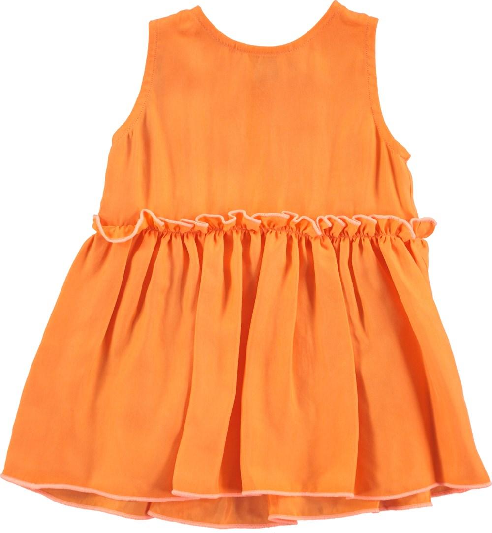 Cerys - Bird Of Paradise - orange baby klänning i cupro