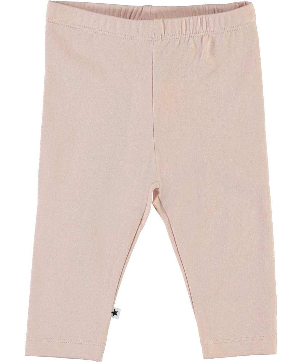 Nette solid - Petal Blush - Ekologiska rosa babyleggings