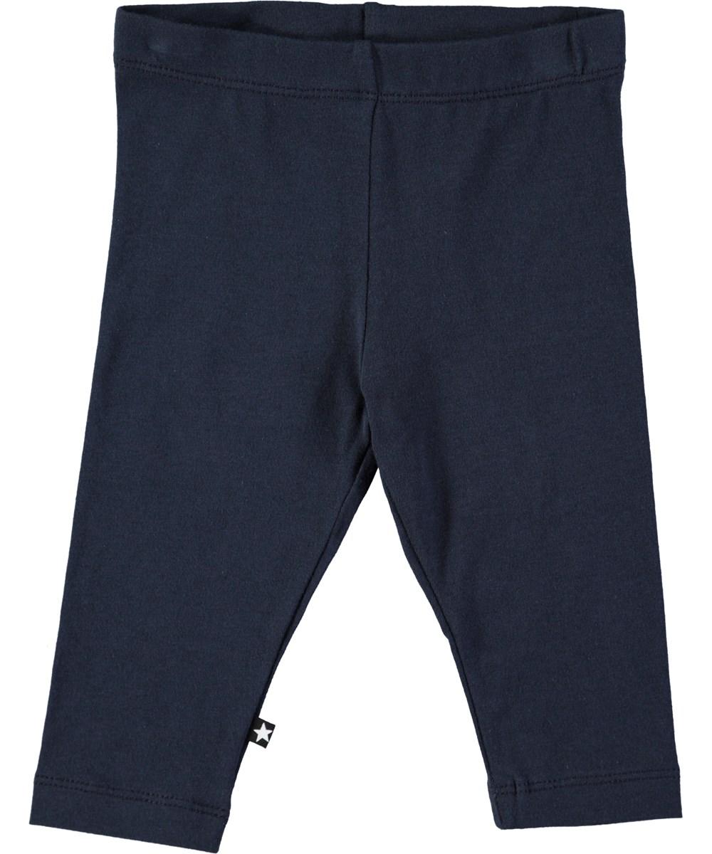 Nette solid - Dark Navy - Mörkblå baby leggings