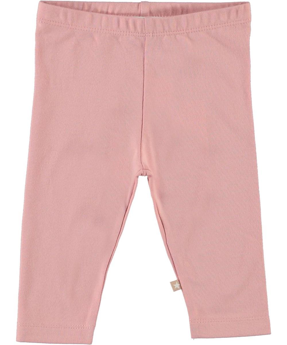 Nette solid - Rosequartz - Ekologiska rosa babyleggings