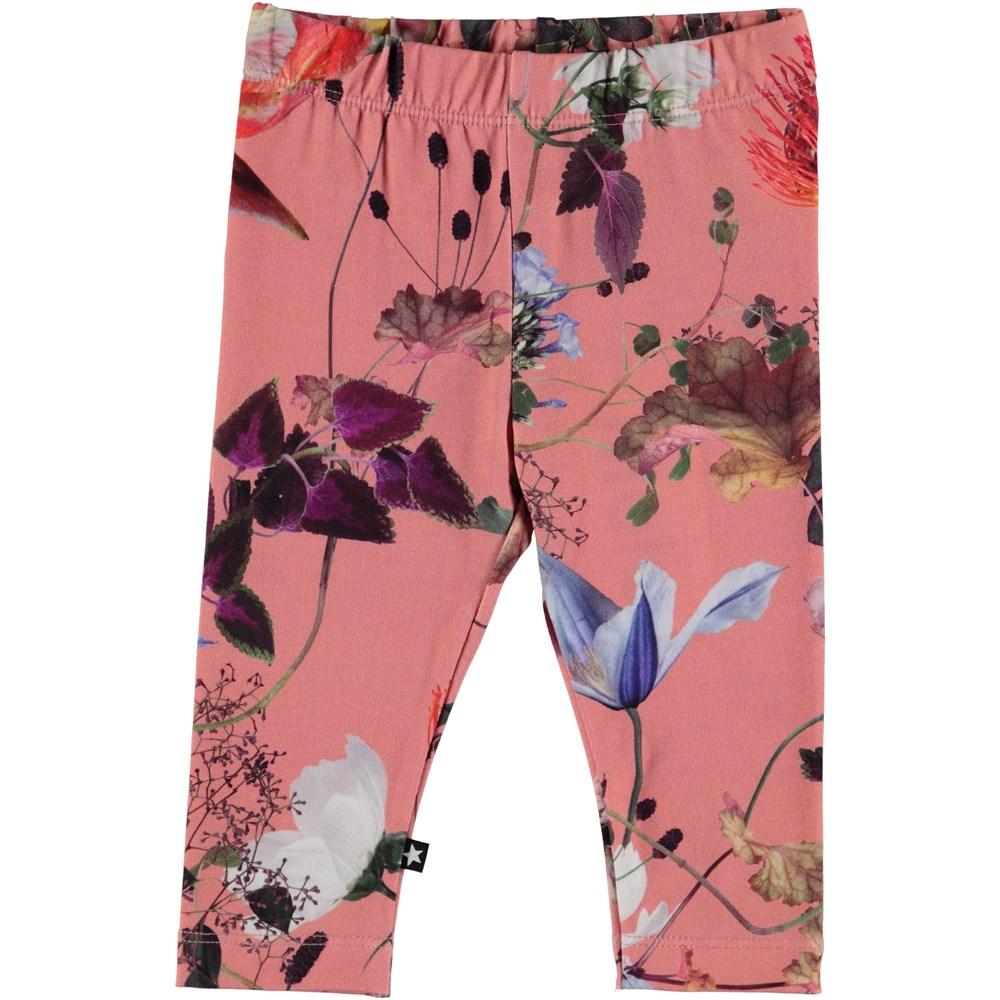 Stefanie - Flowers Of The World - Blommig baby leggings.