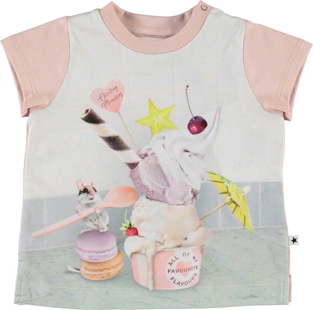 Elly - Little Treat - Ekologisk baby t-shirt med glass