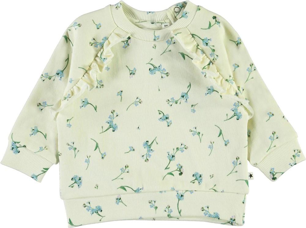 Dayna - Forget Me Not - Baby sweatshirt med blå blommor