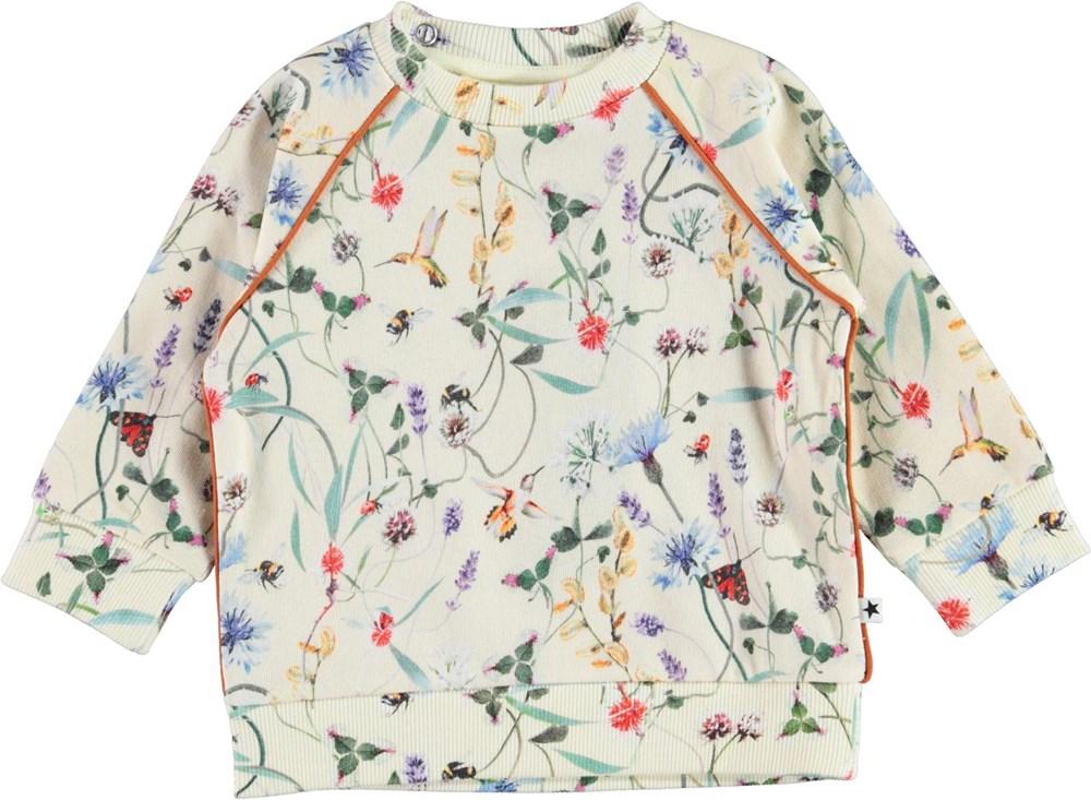 Dicte - Wildflowers_Baby - Ekologisk babytröja med blommor