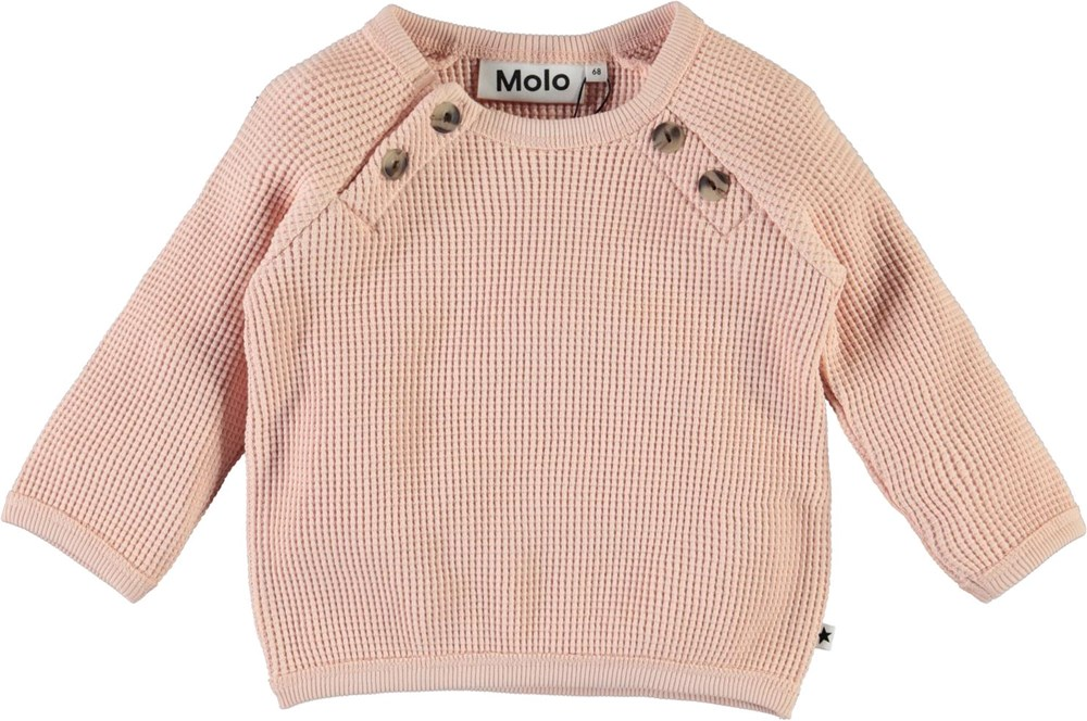 Dolly - Petal Blush - Ekologisk rosa  babytröja