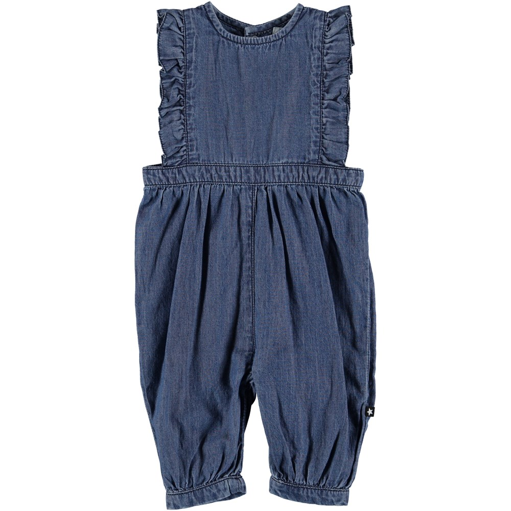 Fabia - Washed Indigo - Baby Romper - Washed Indigo