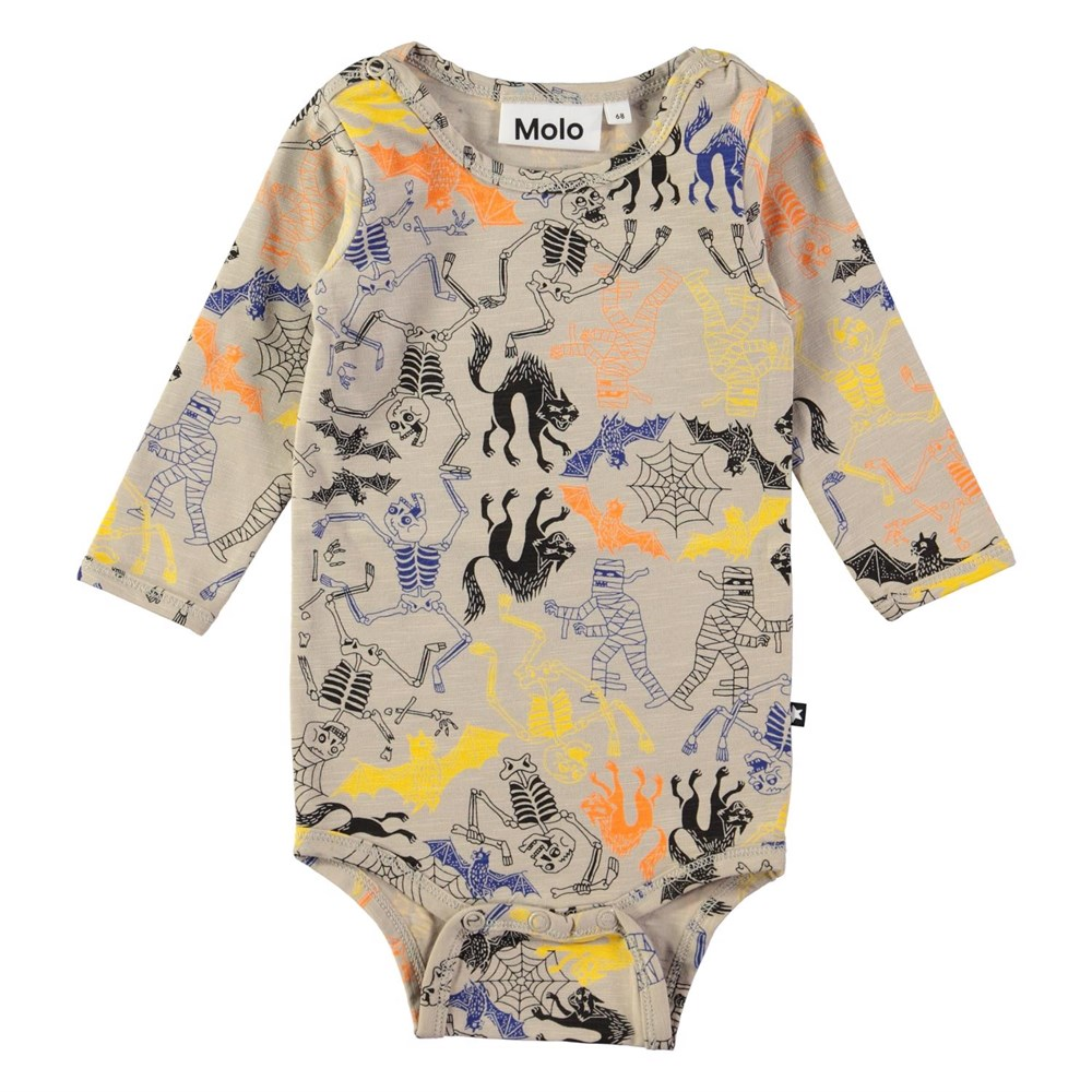 Fair - Halloween Jersey - Long sleeve baby bodysuit with digital halloween print