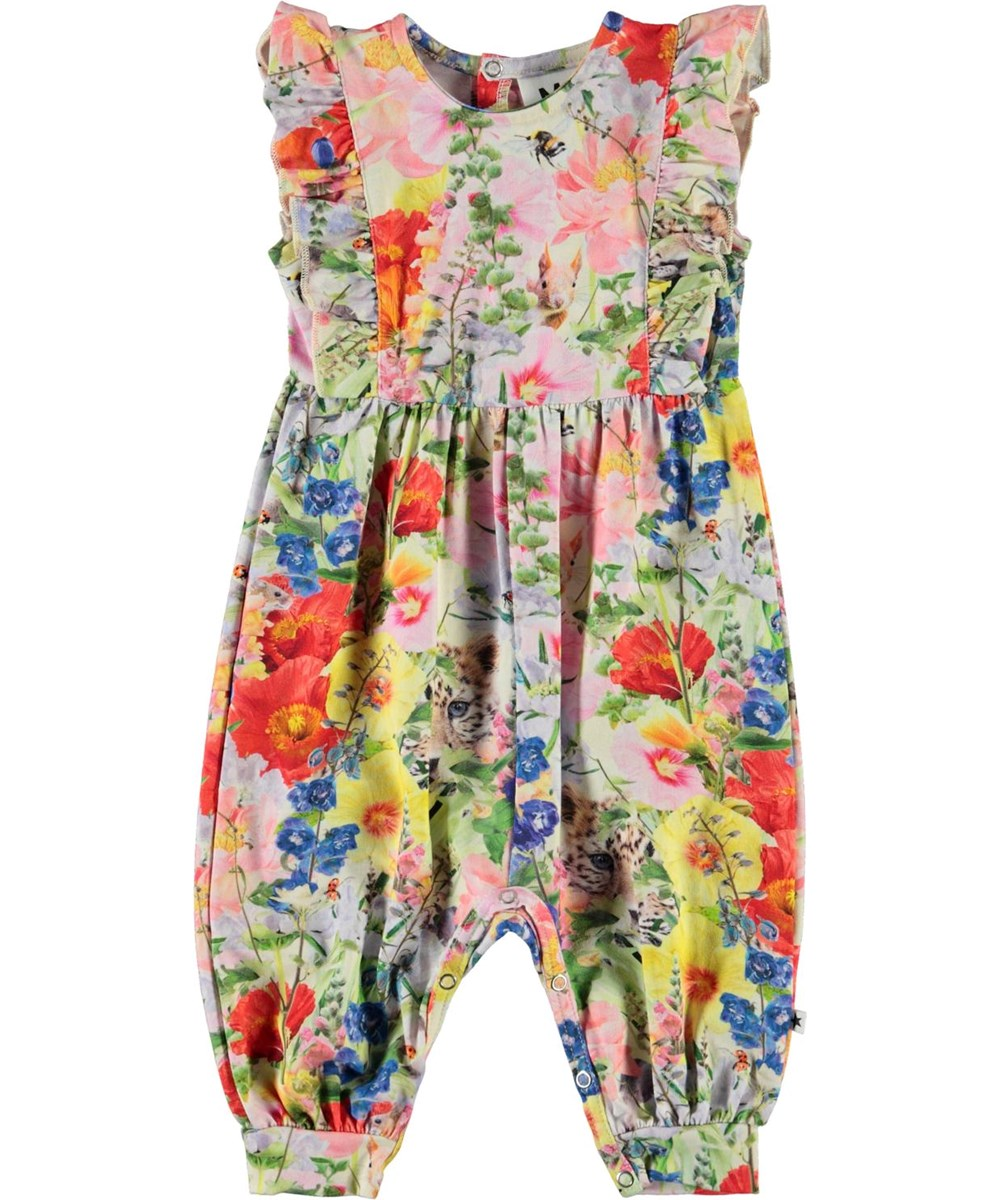 Fallon - Hide And Seek - Baby romper with floral print
