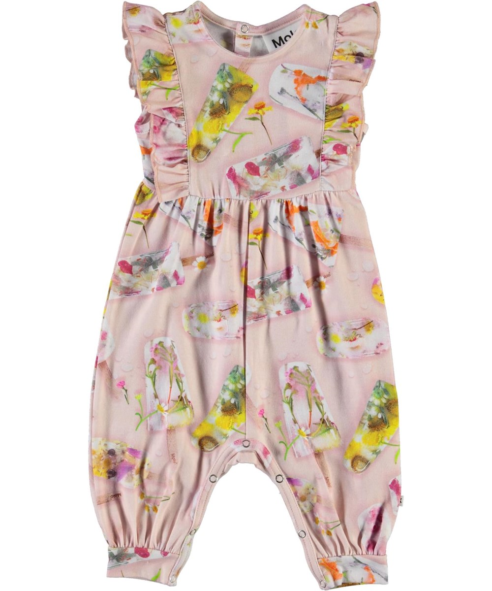 Fallon - Ice Lollies - Organic baby romper with ice cream print