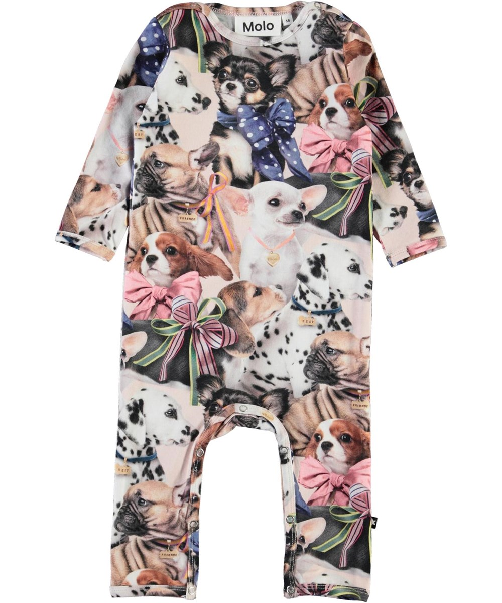 Fiona -  Puppy Love - Organic baby romper with dogs