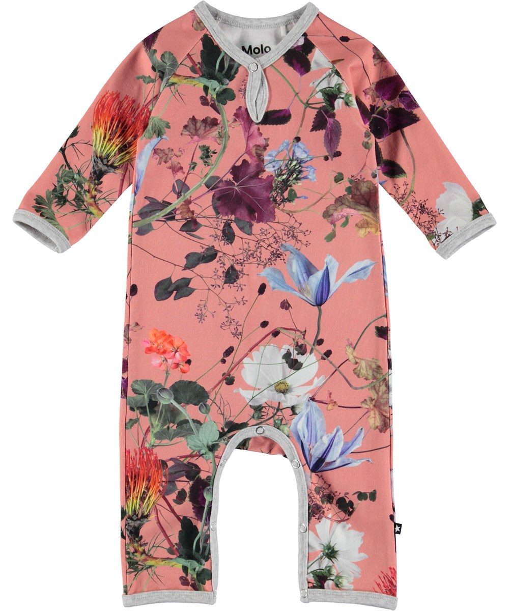 Fiona - Flowers Of The World - Flower baby romper.